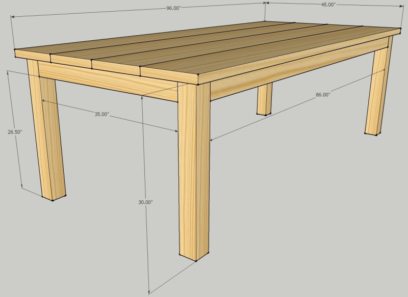 wood patio dining table plans